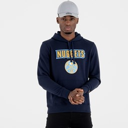 Denver Nuggets Team Logo Navy Pullover Hoodie