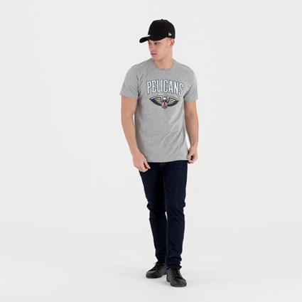 New Orleans Pelicans Team Logo Grey Tee