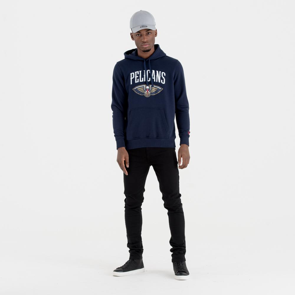 New Orleans Pelicans – Hoodie mit Teamlogo – Marineblau