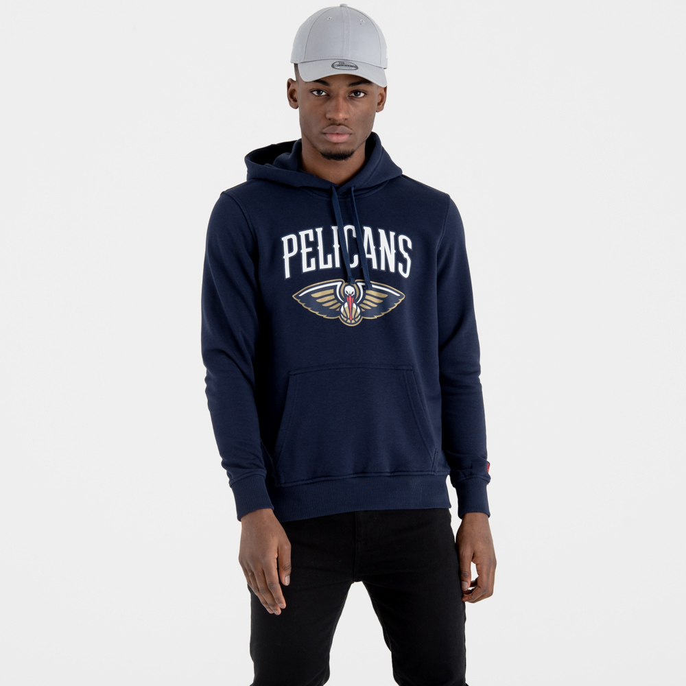 New Orleans Pelicans Team Logo Navy Pullover Hoody