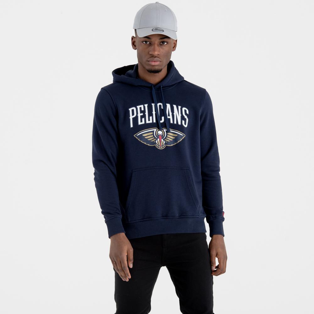 Felpa chiusa con cappuccio New Orleans Pelicans Team Logo blu navy