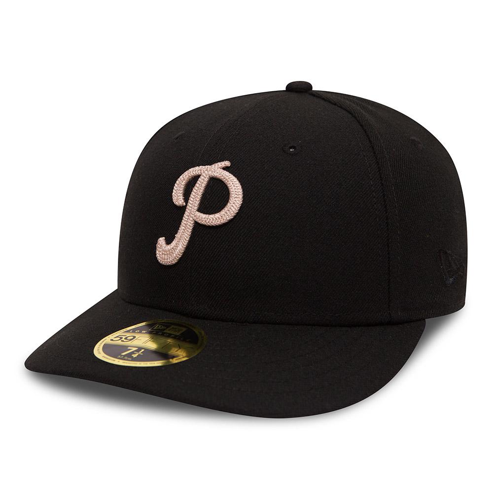 59FIFTY – Philadelphia Phillies – Schwarz mit niedrigem Profil