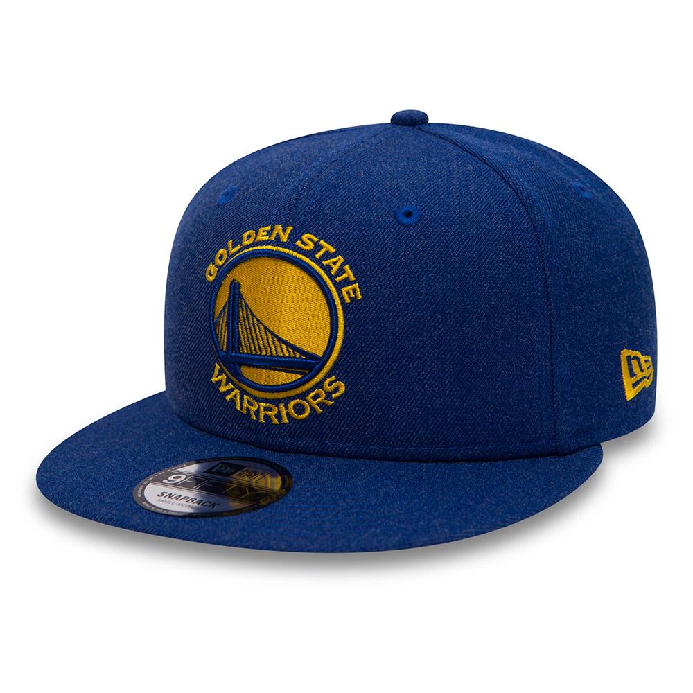 f2886a52f333f8 Golden State Warriors Heather Blue 9FIFTY Snapback | New Era