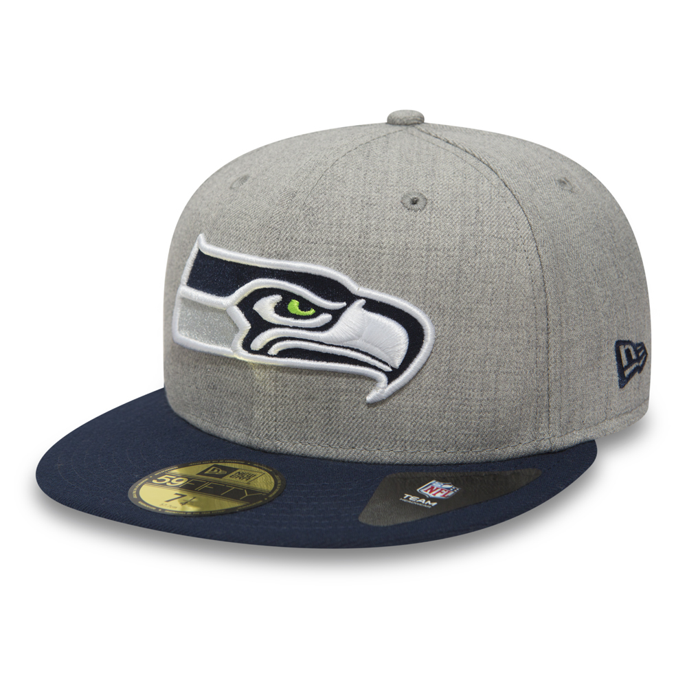 Seattle Seahawks Heather 59FIFTY, gris