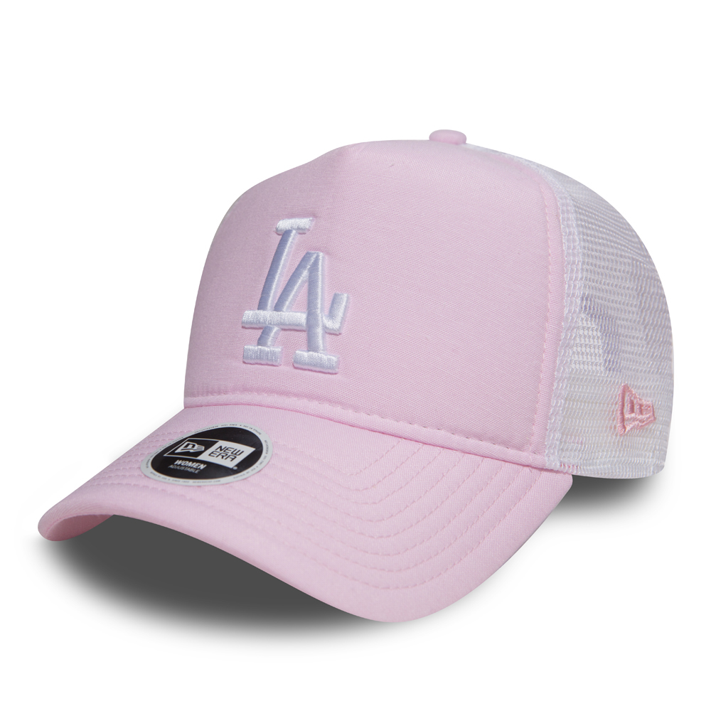 Los Angeles Dodgers – Oxford-Trucker für Damen in Pink