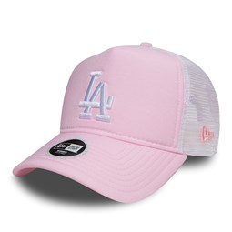 Los Angeles Dodgers Womens Pink Oxford Trucker