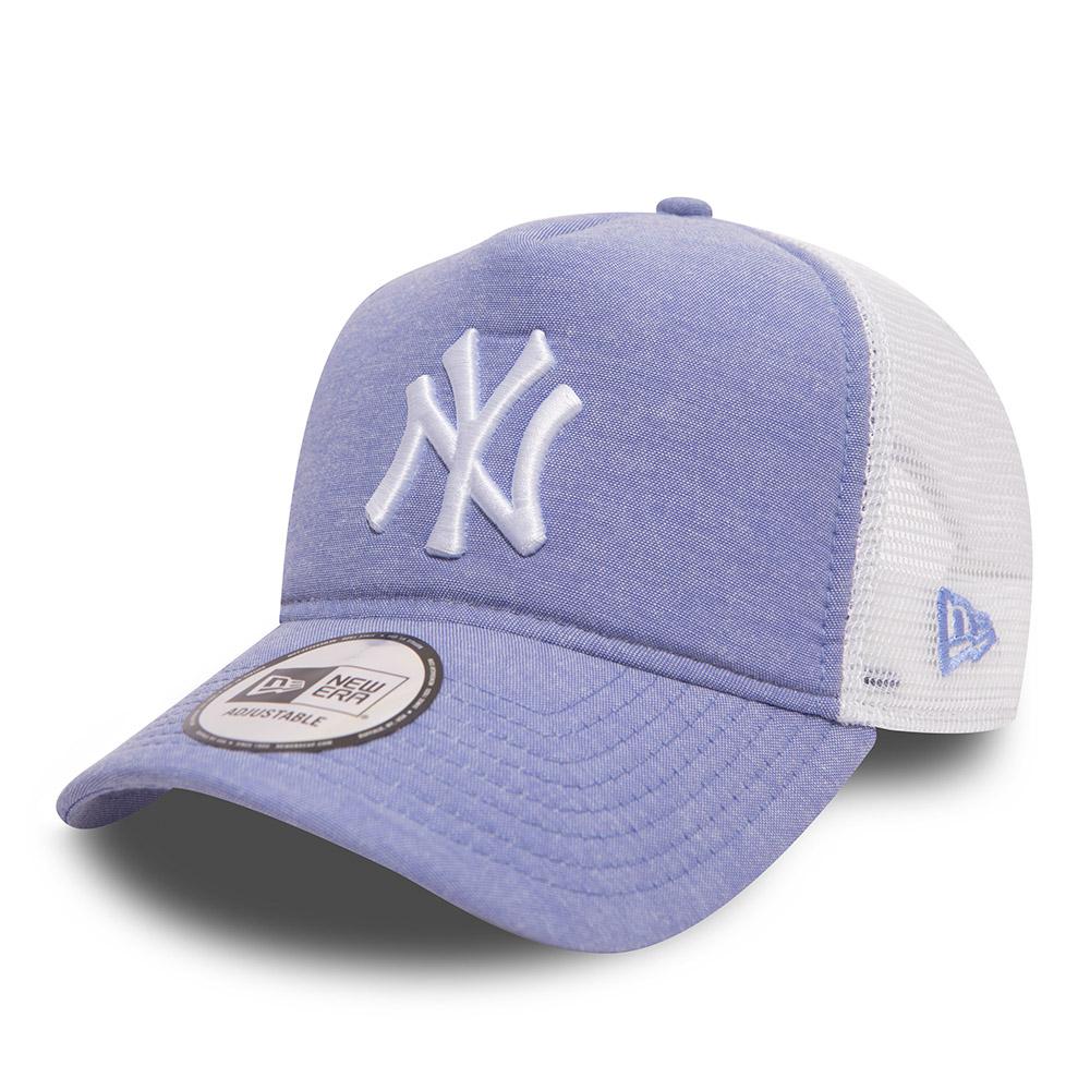 New York Yankees Oxford Trucker mi-droite bleu ciel