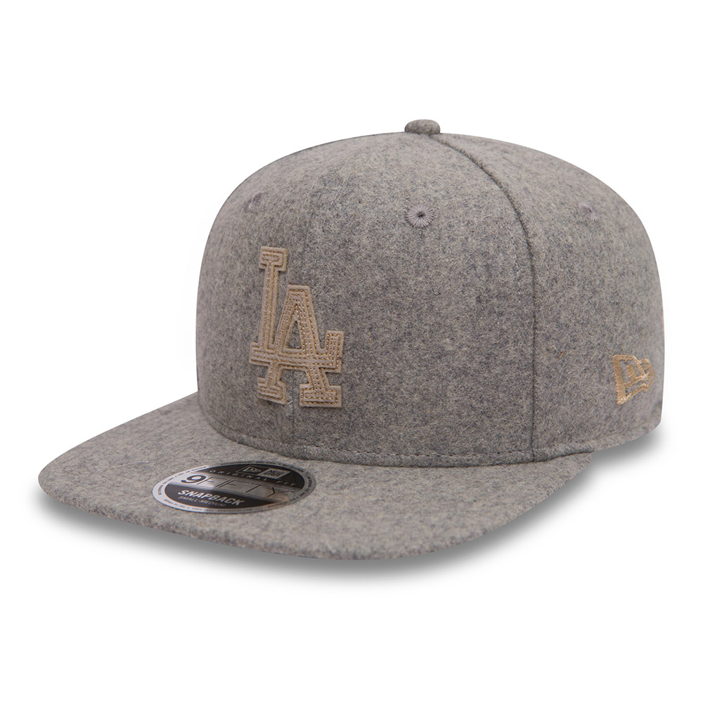 Los Angeles Dodgers Melton Original Fit 9FIFTY Snapback gris