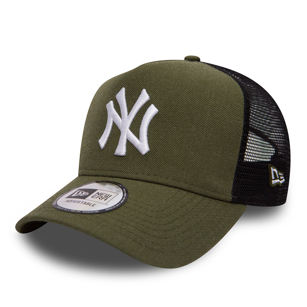 new york yankees heather a frame trucker verde army new era. Black Bedroom Furniture Sets. Home Design Ideas