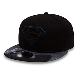 Superman Character Outline 9FIFTY niño, negro