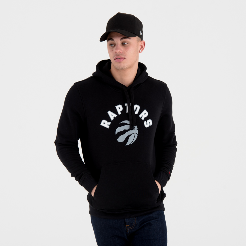 Sweat à capuche Toronto Raptors noir avec logo de l'équipe