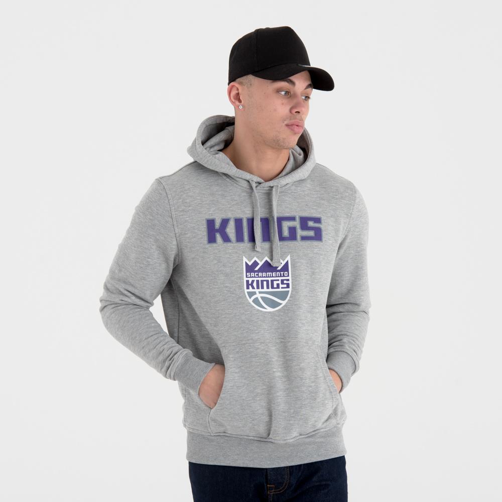 Felpa chiusa con cappuccio Sacramento Kings Team Logo grigia