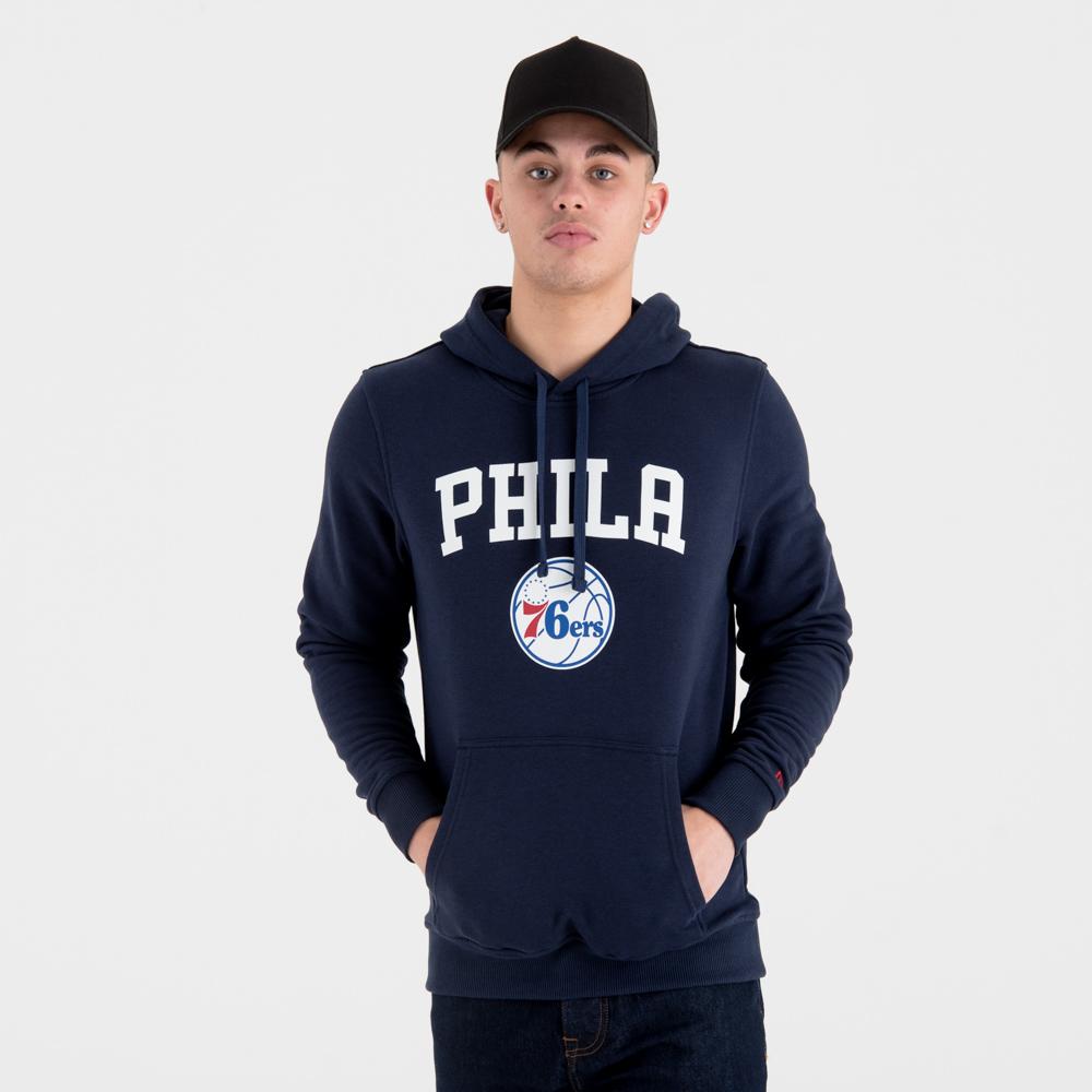Sudadera estilo pulóver Philadelphia 76ers Team Logo, azul marino