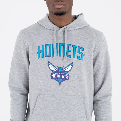 Charlotte Hornets Team Logo Grey Pullover Hoodie