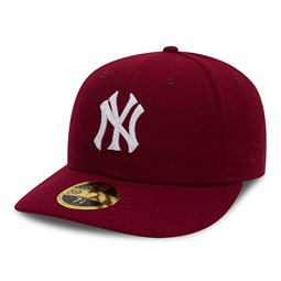 New York Yankees Chain Low Profile 59FIFTY, rojo cardinal