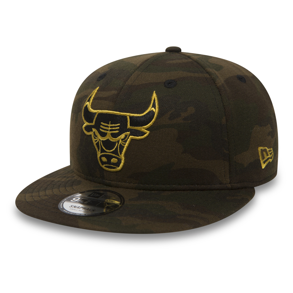 Chicago Bulls 9FIFTY Snapback noir, or et jersey camouflage