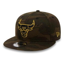 Chicago Bulls Camo Jersey Black 'N' Gold 9FIFTY Snapback
