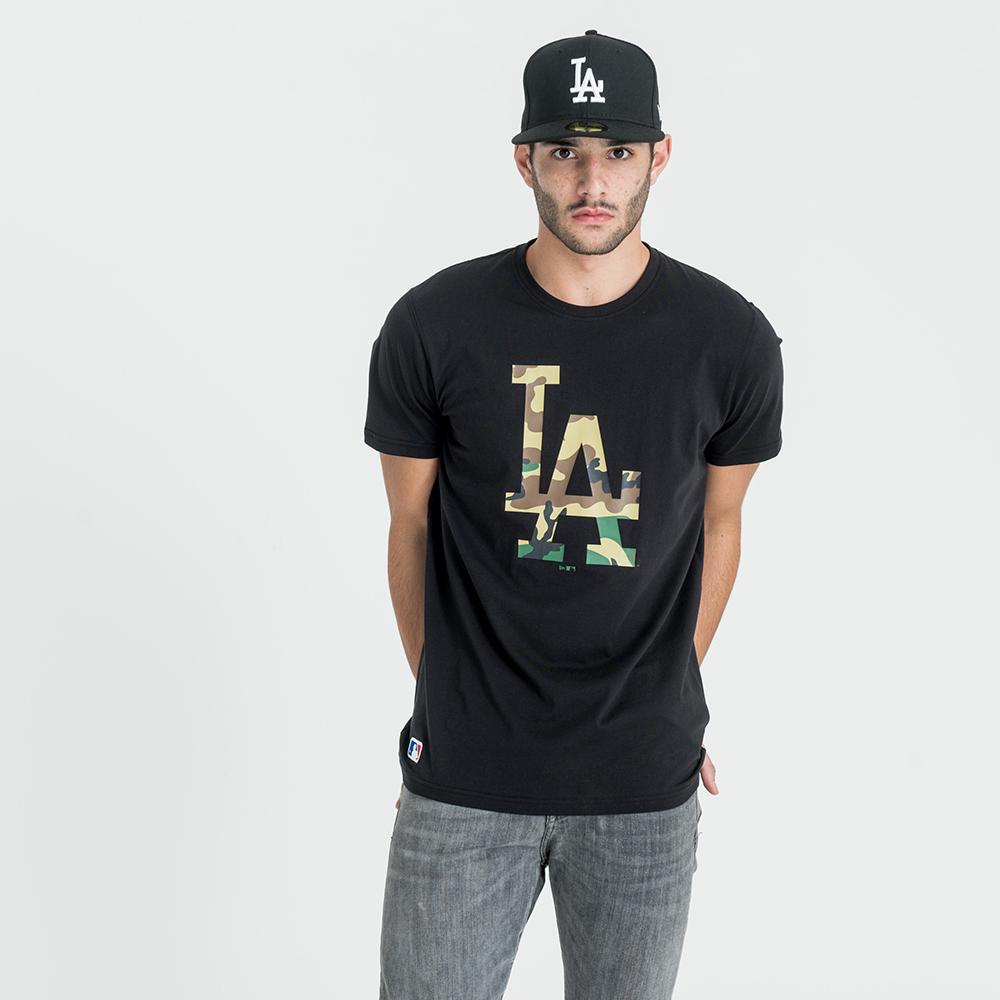 Camiseta Los Angeles Dodgers Infill Logo, negro