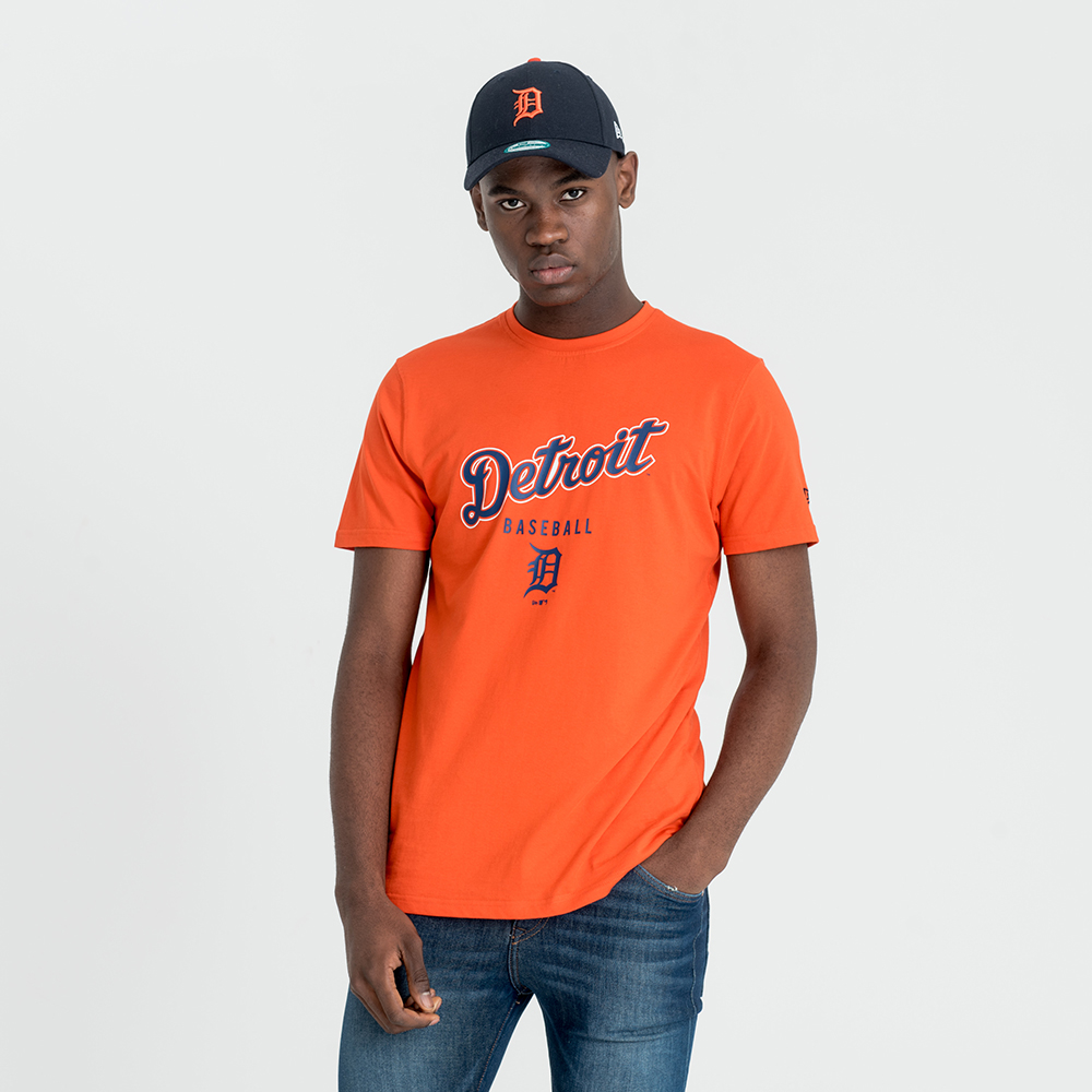 Detroit Tigers – Klassisches Mannschafts-T-Shirt in Orange