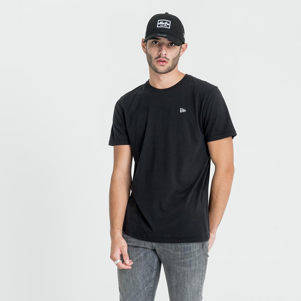 New Era – College Pack – Schwarzes T-Shirt mit Emblem