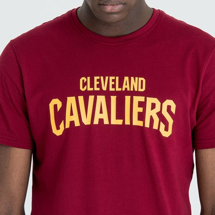 free shipping 96c8f 8c7a5 Cleveland Cavaliers Pop Logo Cardinal Red Tee | New Era