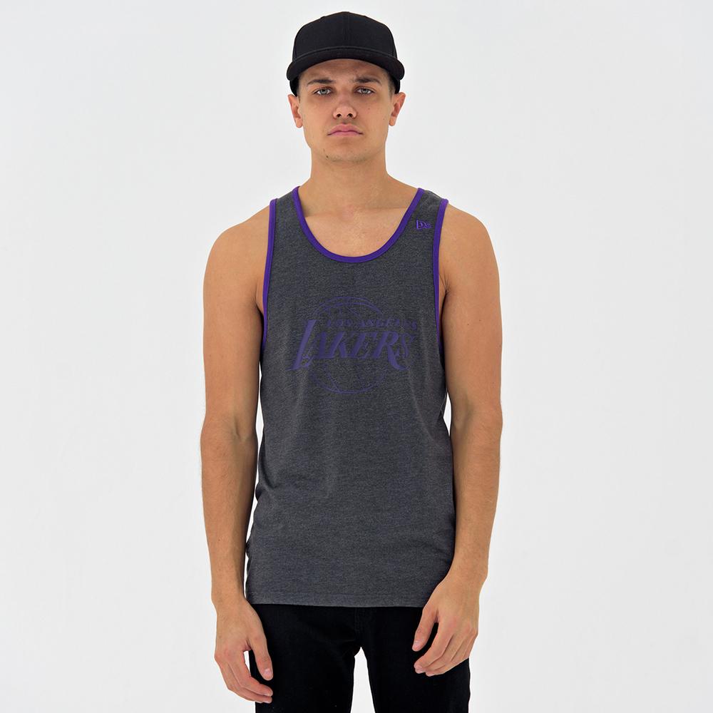 Camiseta de tirantes Los Angeles Lakers Pop Logo, grafito heather