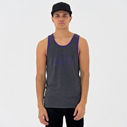 Los Angeles Lakers Pop Logo Heather Graphite Tank