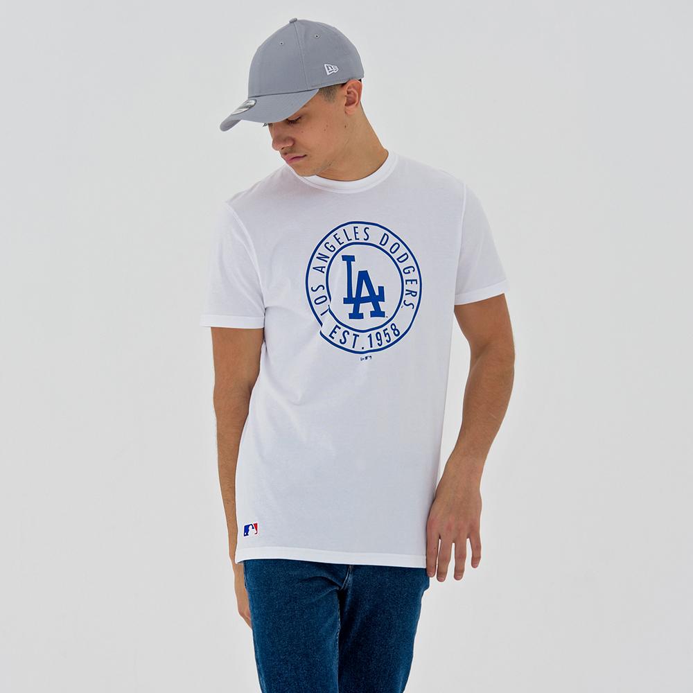 T-shirt blanc Los Angeles Dodgers MLB Wheel