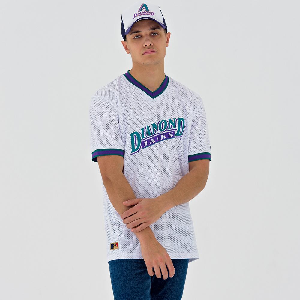 T-shirt Arizona Diamondbacks Coast to Coast Mesh blanc