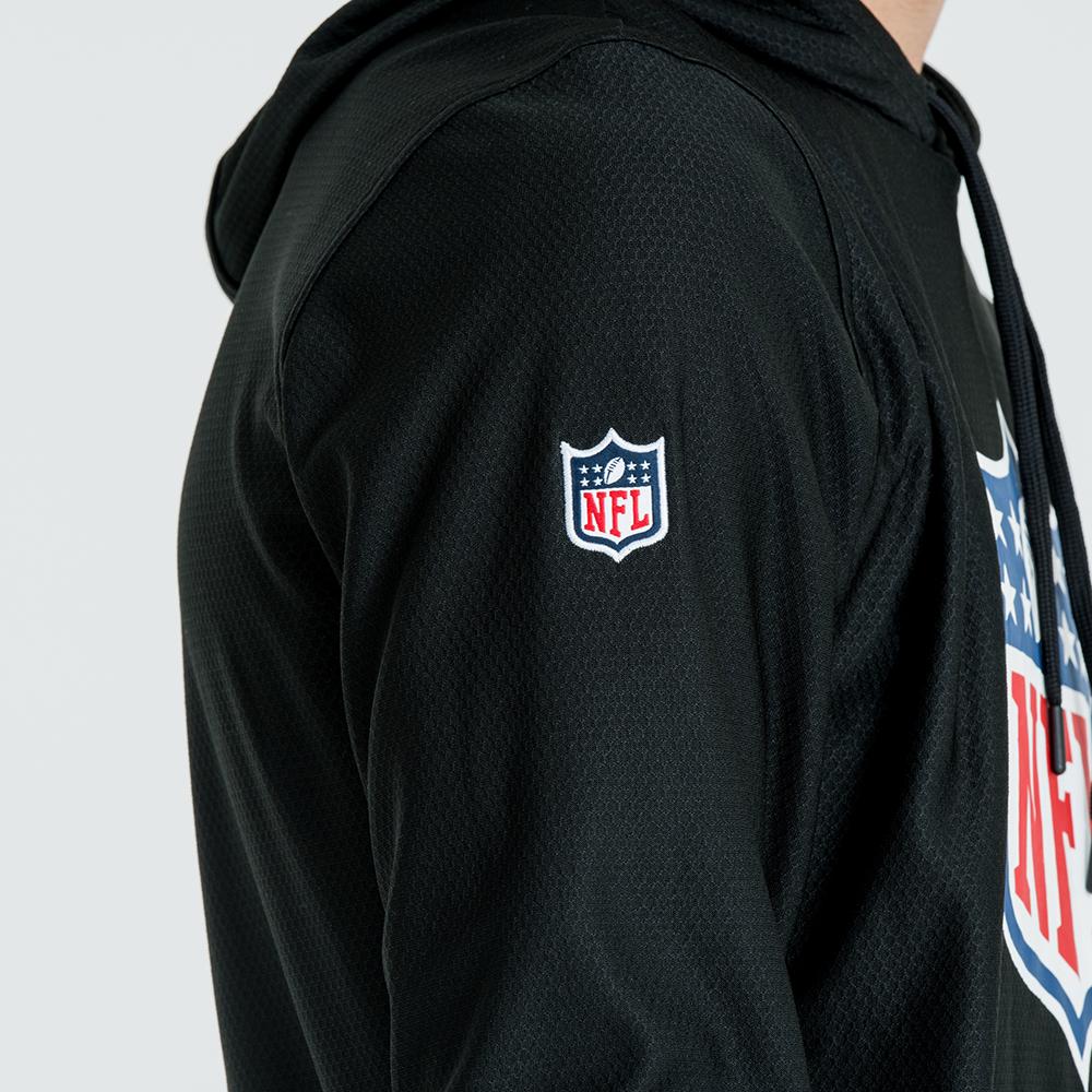 2019 meilleurs sur des coups de pieds de conception populaire Sweat à capuche NFL Logo Dry Era noir   New Era