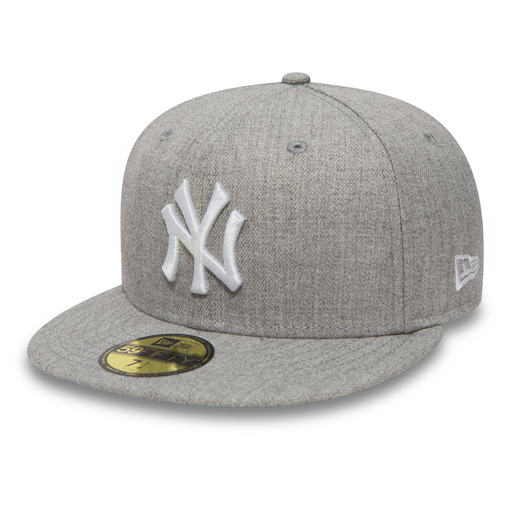 NY Yankees Essential Heather Grey 59FIFTY