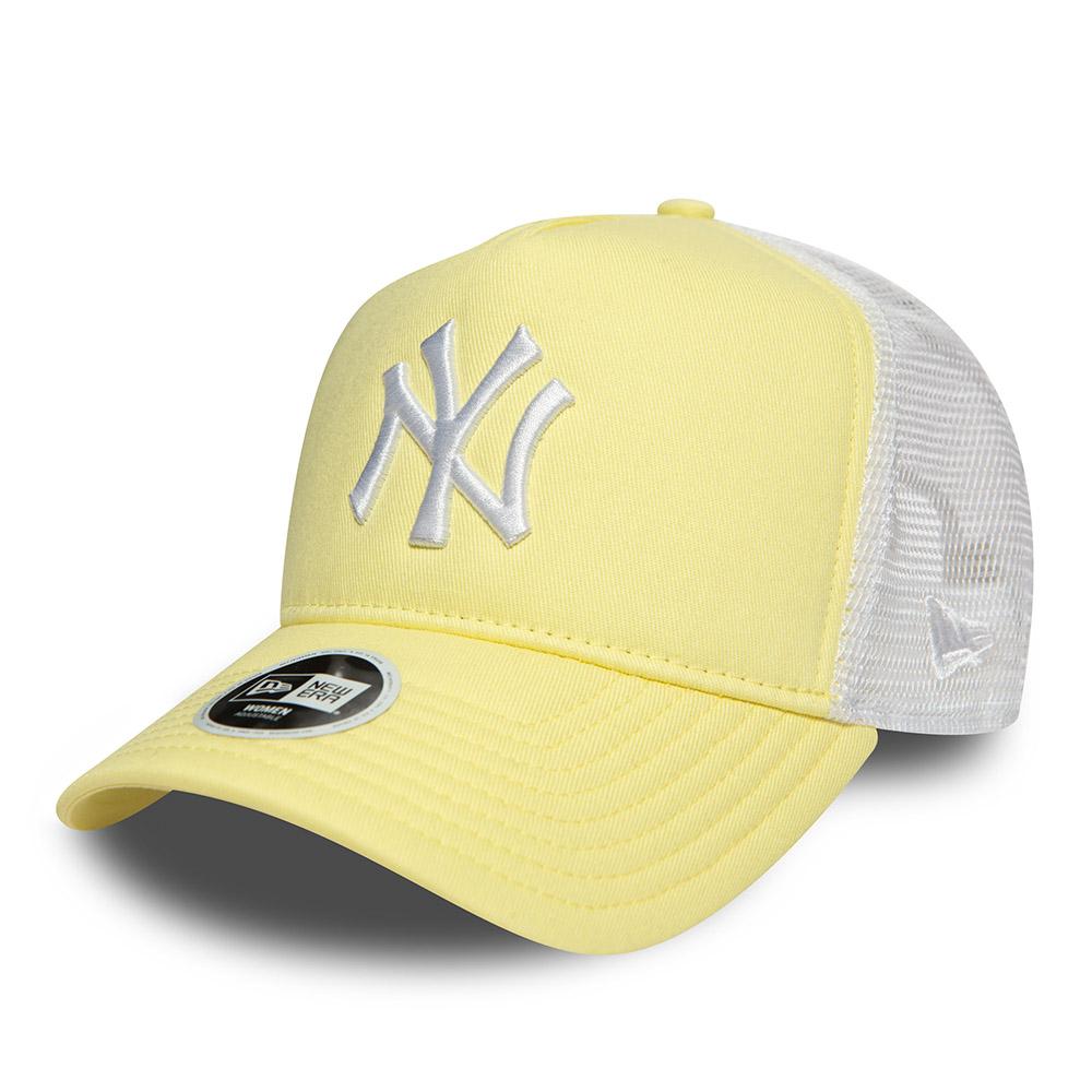 New York Yankees Essential Womens Yellow A Frame Trucker 7a0bab95a