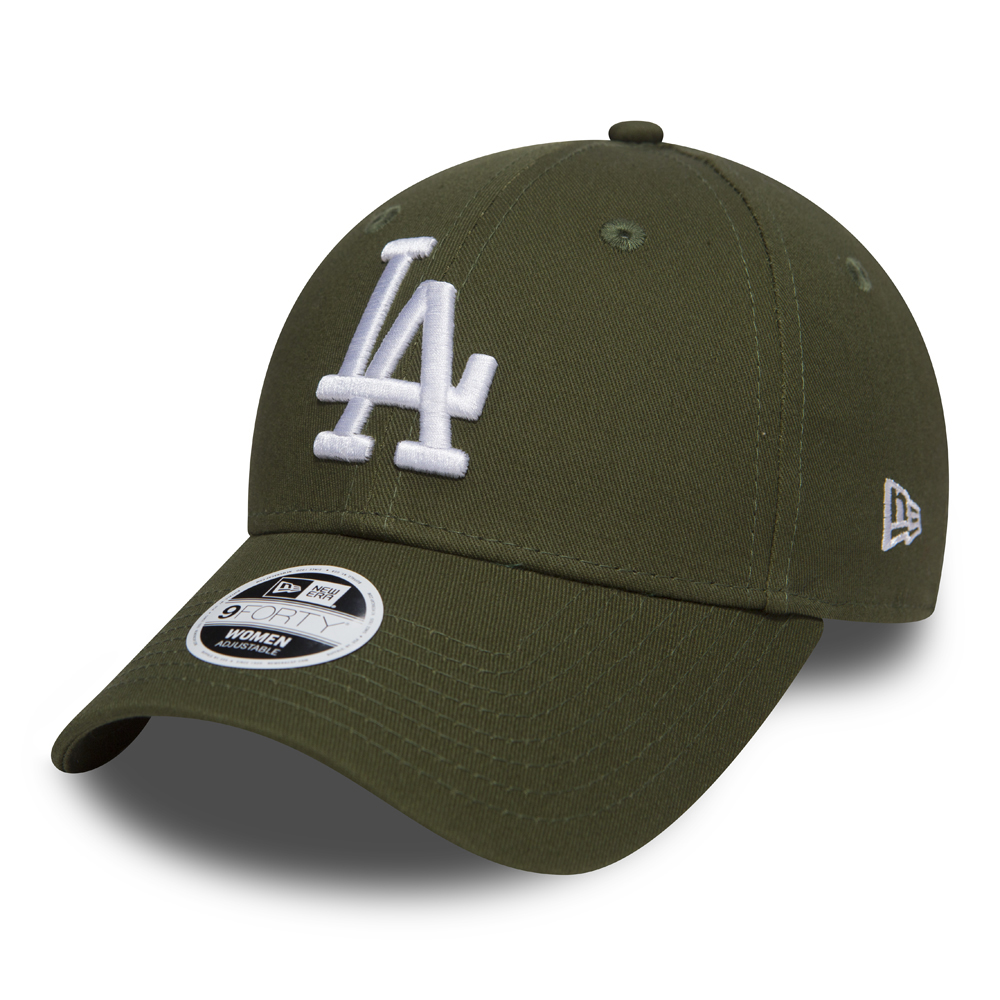 Los Angeles Dodgers Essential 9FORTY vert militaire femme