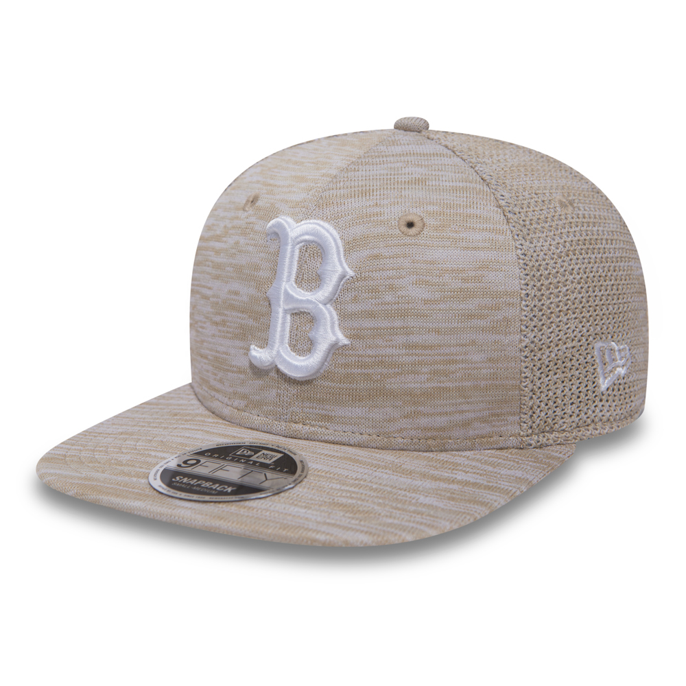 9Fifty Boston Red Sox Snapback Cap Engineered Fit Jersey Mesh - Beige New Era 3g5Ci9V