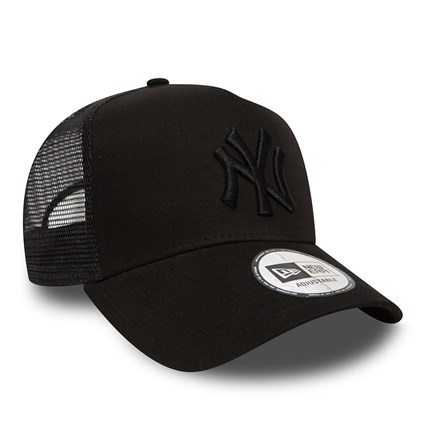 New York Yankees  Clean A Frame Black on Black Trucker