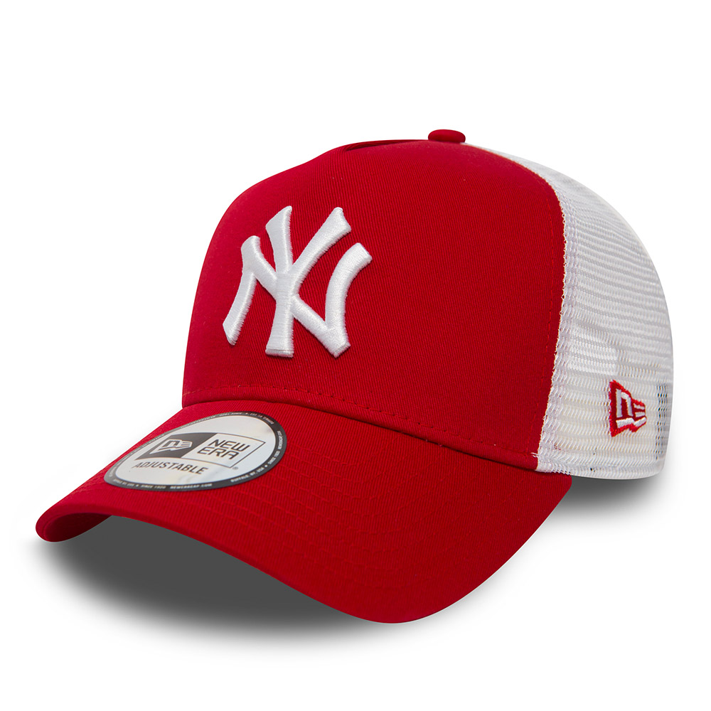 New York Yankees Clean A Frame Trucker rosso