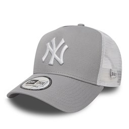 New York Yankees Clean Grey A-Frame Trucker Cap