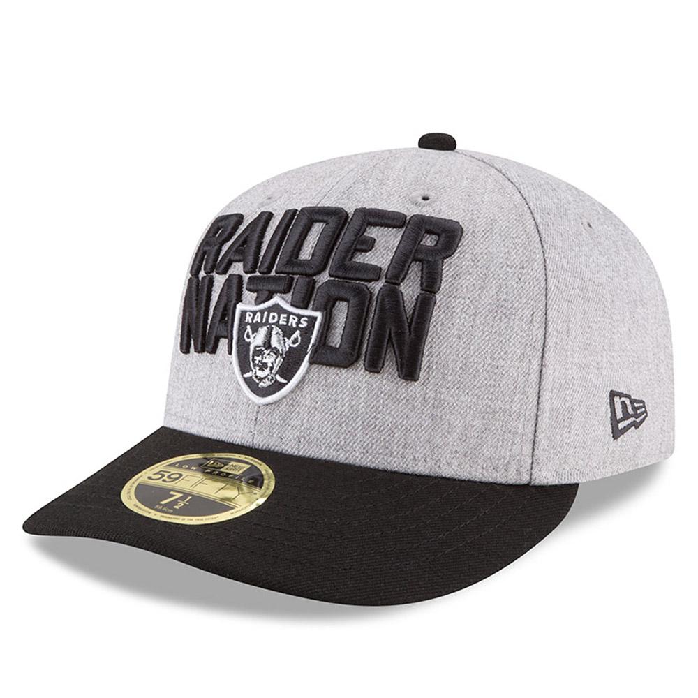 59FIFTY – NFL On-Stage Draft 2018 – Oakland Raiders – Kappe mit niedrigem Profil