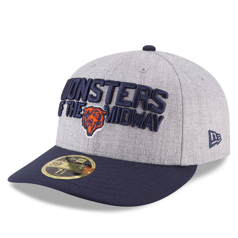 47de8a715391e ... Chicago Bears 2018 NFL On-Stage Draft Low Profile 59FIFTY