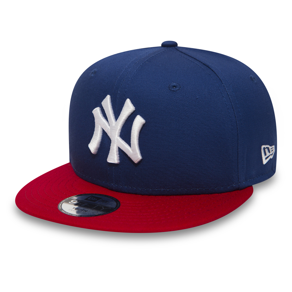 NY Yankees Cotton Block 9FIFTY Blue Snapback bambino  63aa3286b803
