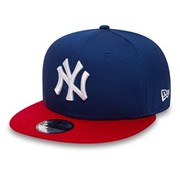 NY Yankees Cotton Block Kids 9FIFTY Blue Snapback