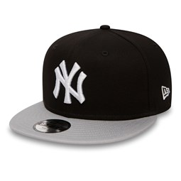 NY Yankees Cotton Block Kids 9FIFTY Black Snapback Cap