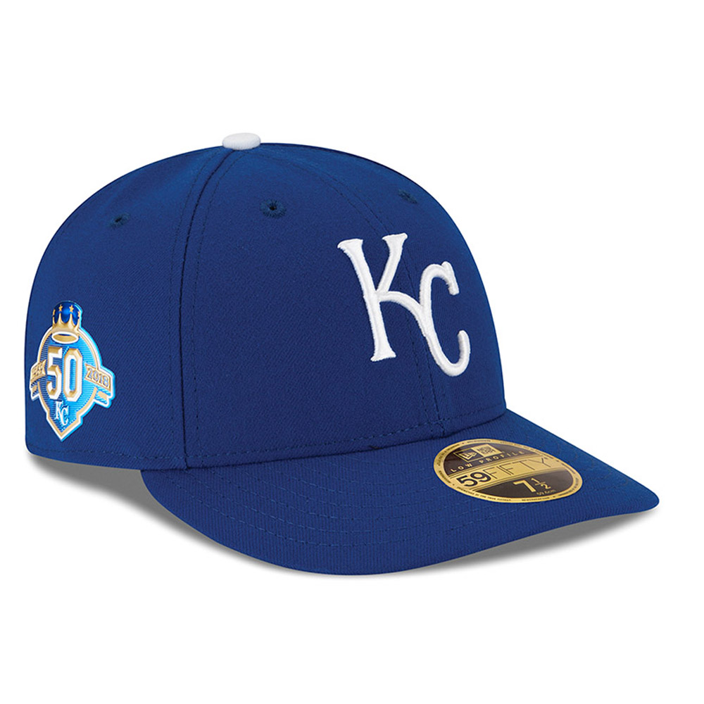 c61f2c57371 Kansas City Royals Anniversary Side Patch Low Profile 59FIFTY
