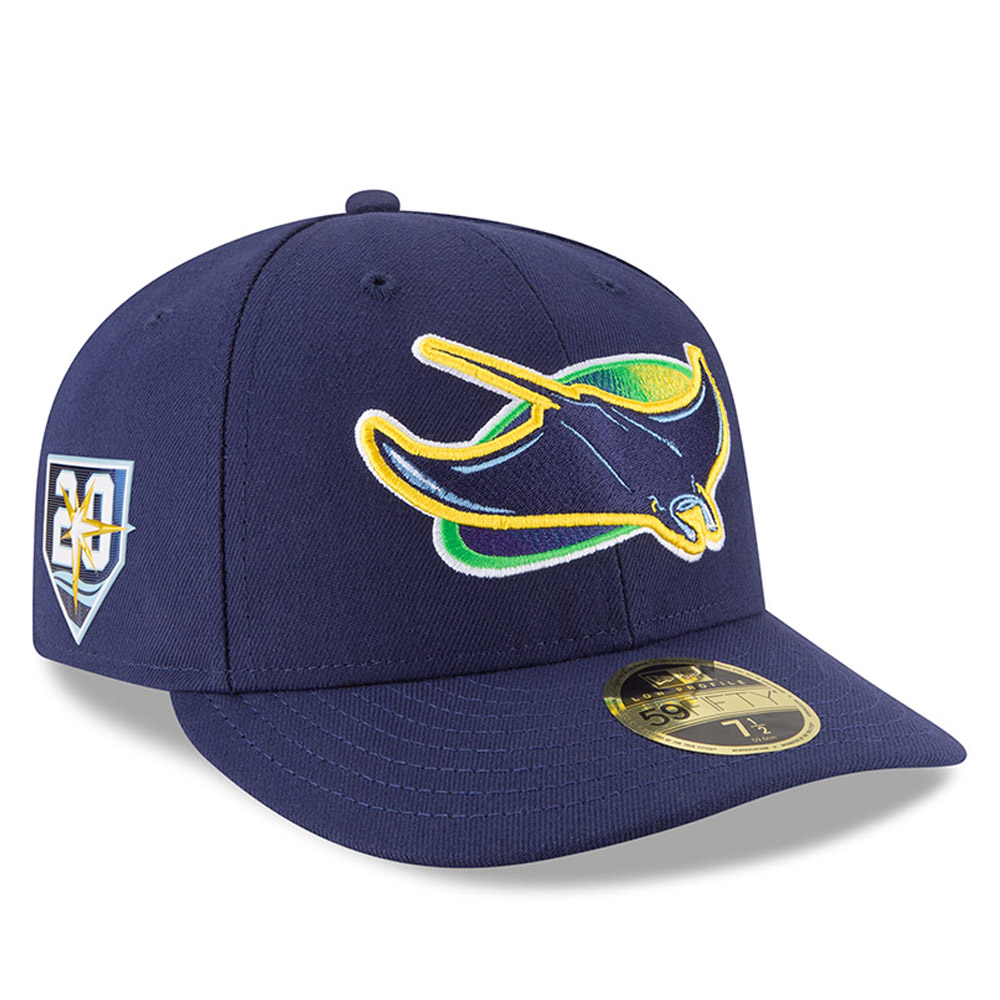 new arrival 19317 d41ee Tampa Bay Rays Anniversary Side Patch Low Profile 59FIFTY