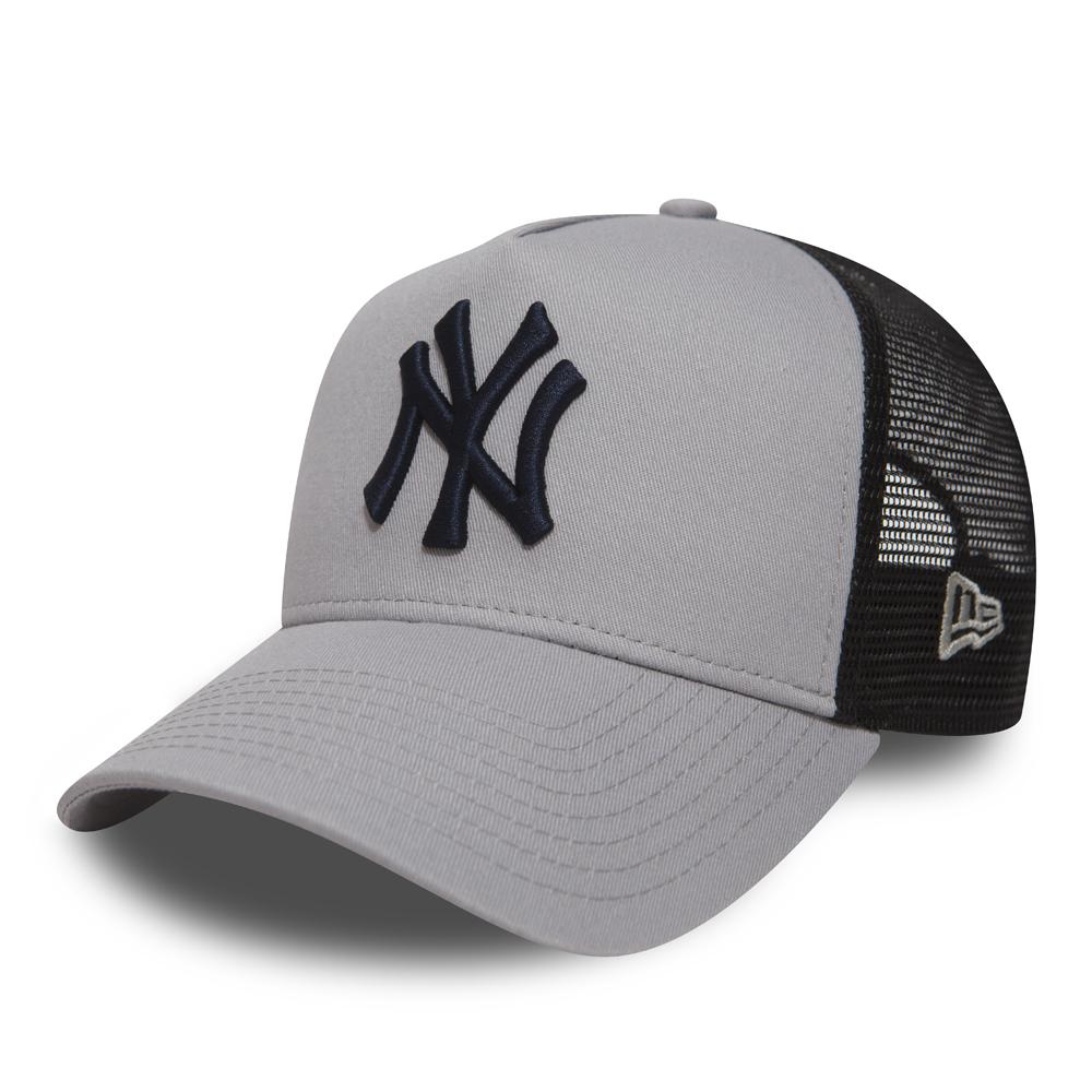 Blanc New York Logo Noir 6 Panneau Courbé Pic Yankee Style New York Baseball Cap