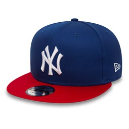 NY Yankees Cotton Block 9FIFTY Blue Snapback