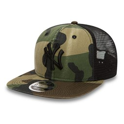New York Yankees Camo 9FIFTY Trucker délavé