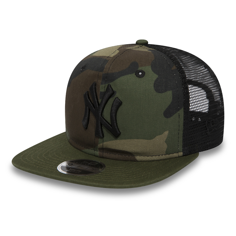 New York Yankees Washed Camo 9FIFTY Trucker enfant