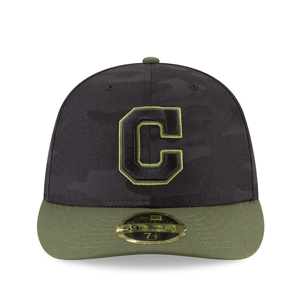 sports shoes 410b3 9c64d Black Cleveland Indians New Era 2018 Memorial Day On-Field 59FIFTY Fitted  Hat Sports Mem, ...