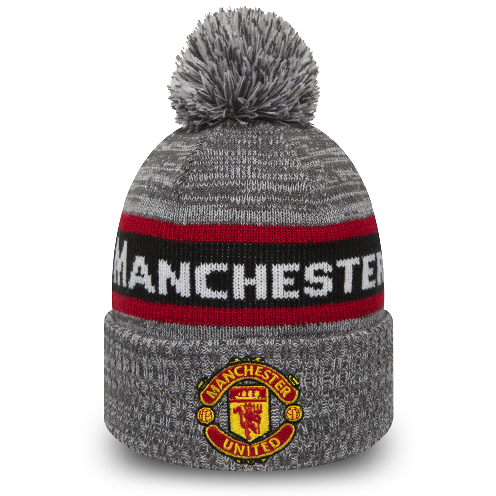 Manchester United Grey Bobble Cuff Knit